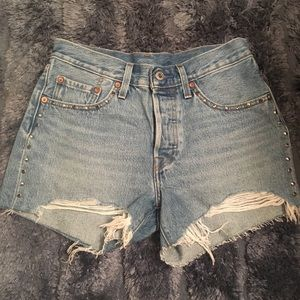 Brand new Levi's 501 high rise shorts